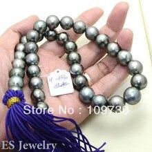 Ювелирные изделия 001091 11-13.2 мм серый металлик Tahitian южного моря круглый жемчуг прядь-Цепочки и ожерелья