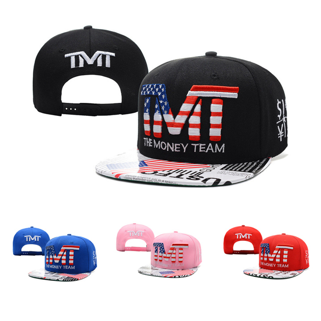 fdd2a357 TMT The Money Team Snapback Hats American Flag Dollar Star Baseball Cap  Letter Power Unisex Flat Caps In Box Free Shipping