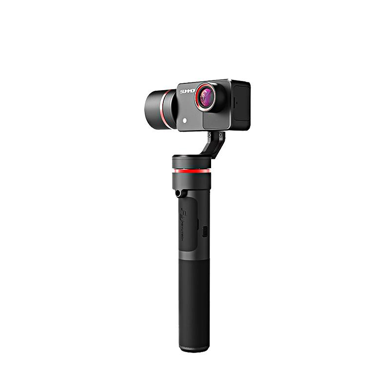 FY Summon Plus 3-Axis Handheld Gimbal Single Handgrip Camera Stabilize with 4K 1080P Action Cam 16 Mega Pixels 2.0 Inch HD