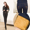 Winter Warm Thick Velvet Skinny Jeans Pants for Woman Plus Size 2017 New Black Denim Trousers Skinny Ladies Pant Femme Pantalon