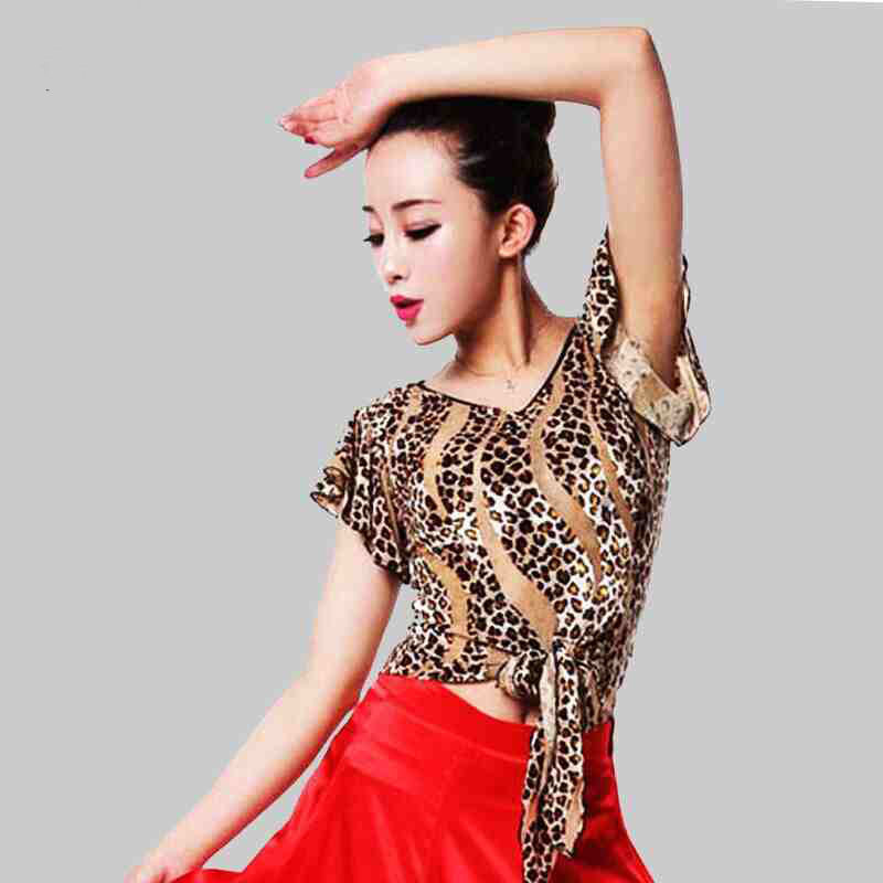 New Fashion Modern Latin Dance Top For Women/Female/Girl/Lady Tango Rumba Ballroom Dancing Costume Performance Wear Tops