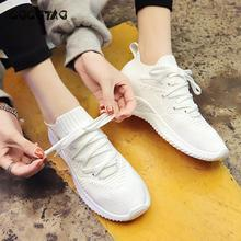 Sports Shoes Female Ins Baitao New Mesh White Fly Weave Summer Small Breathable Running In Of 20140
