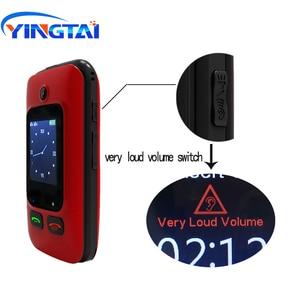 Image 4 - オリジナル YINGTAI T22 3 グラム MTK6276 GPRS MMS 大プッシュボタンシニア電話デュアル Sim デュアルスクリーンフリップ携帯電話高齢者のための 2.4 インチ