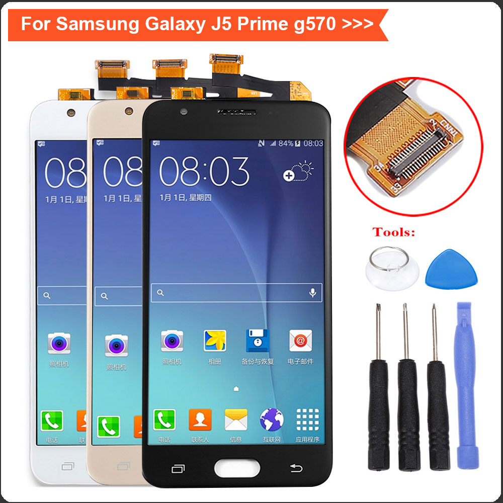 J5 Prime Lcd For Samsung Galaxy Display G570f G570 Ds Touch Screen Digitizer Price In Mobile Phone Lcds From