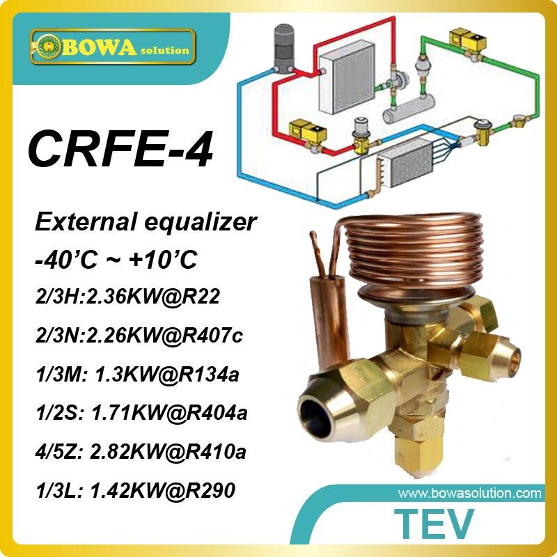 CRFE-4 (1.17KW R134a) thermostatic expansion valves designed for Secop (danfoss) black compressor SC12GX and SC15GX in cooling 5 pcs qdzh35g r134a 12v cooling compressor for marine refrigeration unit