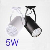 5W AC90 260V Aluminum Material Led Track Lighting Shop Led Lighting Small Size Black White Shell