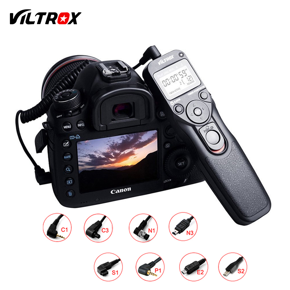 Viltrox MC Cámara LCD temporizador Control remoto disparador para Canon Nikon Pentax Olympus Sony DSLR A9 A7 A6500 a6300