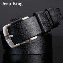 Jeep King Famous Fashion Man Genuine Leather Waist Belt Retro Belts Wide Designer Belts Men High Quality Luxury Brand Pin Buckle