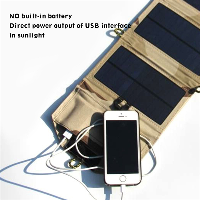 Image 5 - Portable folding 7W Solar Panel 5V USB Output Portable Foldable Power Bank Solar Charger for Outdoor Smartphone Solar Powerbank-in Power Bank from Cellphones & Telecommunications