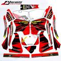 Motorcycle Complete Graphic Kit Dirt Bike Sticker Fuel Tank Decal Gas Tank Decals For CRM250 R CRM250R CRM 250 R 1989-1993