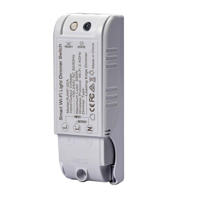 Control de voz inteligente Diy Wifi Dimmer módulo interruptor de luz controlador inalámbrico inicio automatización 110-240V trabajo con Googel casa de Alexa