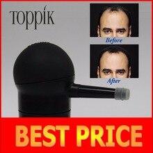 Toppik hair spray aplicador bombas de fibras del edificio del pelo 10g, 12g, 25g, 27.5g, 30g de color negro, con caja de la marca/paquete en la bolsa de relleno