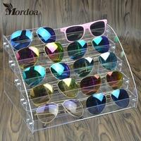 Clear Acryl Make Organizer Opbergdoos 5 Lagen Nagellak Display Rack Lippenstift Glazen display rack Sieraden Standhouder