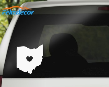 Black/WhiteI LOVE OHIO Country Sign Fashion Modern Car Body Sticker Decal L050 image