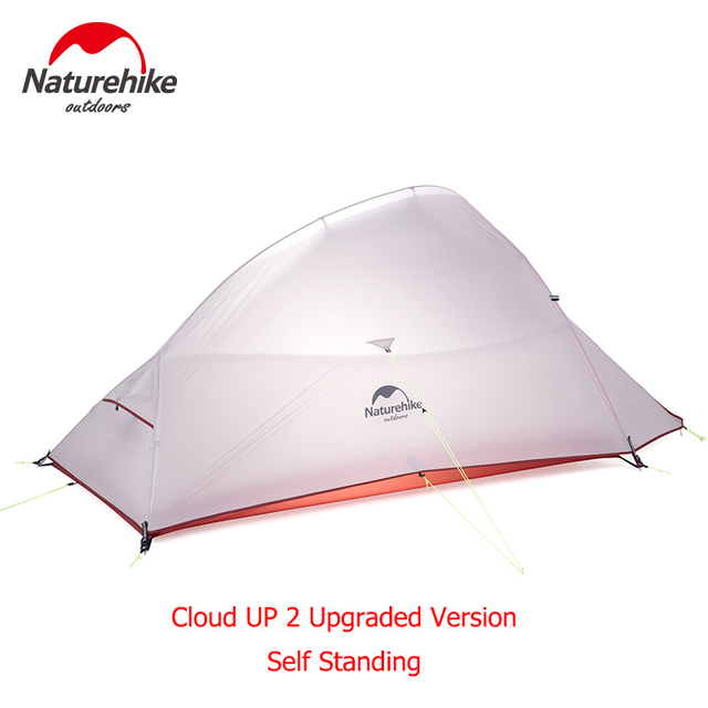 Naturehike CloudUp Series Ultralight Hiking Camping Tent 20D Fabric For 2 Person With Mat Outdoor Traveling Equipment