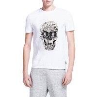 Toilettes Spectacle Vintage Bande Crânes Manches Courtes Coton Cool T-Shirts Hommes Graphic Tee M-WM023