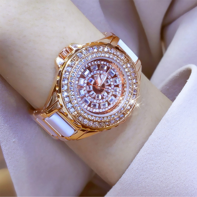 Ceramic Dress Women Watch reloj mujer Quartz Watch Luxury Rose Gold Ladies Wrist