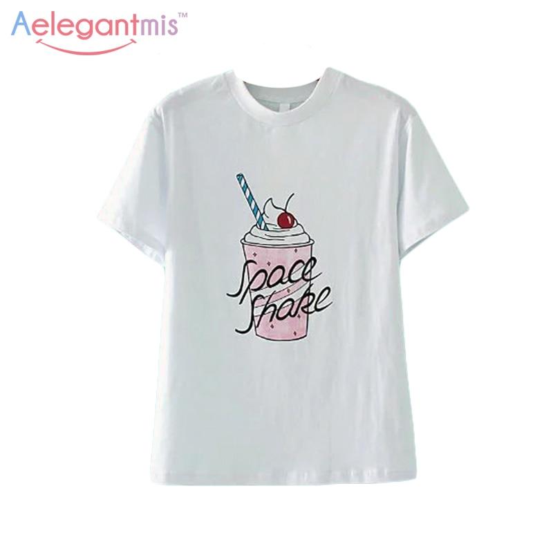 Aelegantmis Best Friend Summer Casual T Shirt Women Round