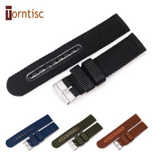 High Quality Universal Thick Nylon Smart Watch Band Waterproof Watch Strap 18mm 20mm 22mm for font