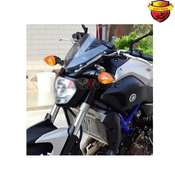 Motorcycle Windshield Windscreen Pare-brise Smoke For YAMAHA MT07 MT-07 FZ-07 2014- 205 2016 windshield for yamaha sr400 sr500 srv250 srx400 srx600 windscreen pare brise black motorcycle 7 round headlight