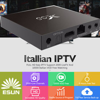 with1 year Italy IPTV Android tv box X96 Italy IPTV EPG 4000+Live+VOD configured Europe Albania ex yu XXX channels BOX