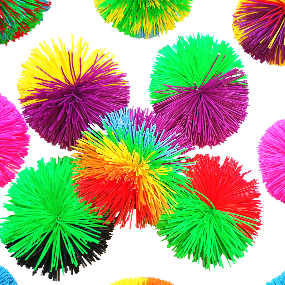 8cm Rainbow Mixed Koosh Squishy Ball Sensory Fidget Toy For Autism Occupational Stress Relief Funny Kids Anti-stress Toy Gift