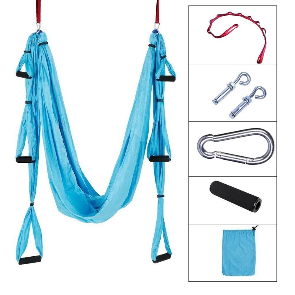 Sports & Entertainment Yoga Dedicated Antigravity Aerial Yoga Hammock/trapeze/yoga Inversion Exercises Full Set 1*hammock+2*expansion Screw+2*lengthening+6*handle