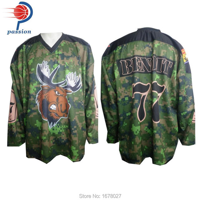 0639b166b5b Custom sublimation camo design ice hockey jerseys for men-in Hockey ...