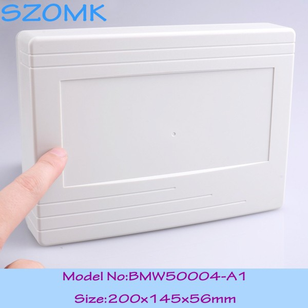 12 pcs/lot wall mount plastic project box plastic housing electronics case abs plastic enclosure 200x145x56 mm