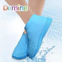 Утепленная обувь крышка силиконовый гель водостойкий покрытие на обувь от дождя многоразовая резиновая эластичность Overshoes анти-скольжение...