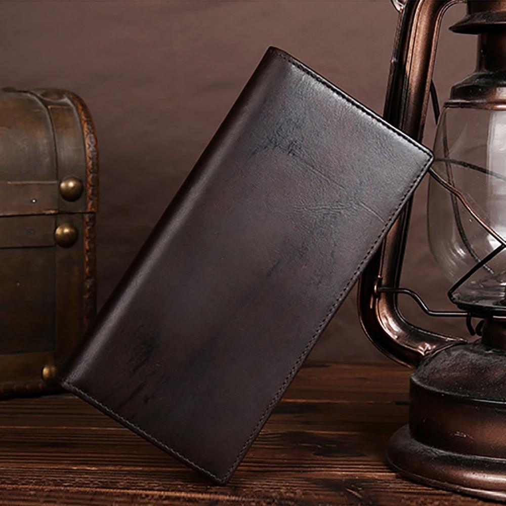 Men Vintage Real Genuine Leather Wallet Long Designer Business Casual Male Bifold Purse Coin Pocket Card Holder Clutch Money Bag alzrc devil 380 fast carbon fiber body side plate 1 2mm d380f21 12