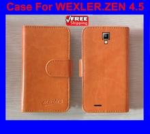 Горячая! Wexler ZEN 4.5 чехол высокое качество Высокое качество Новый стиль флип PU кожаный чехол для WEXLER ZEN 4.5 крышка телефон сумка отслеживания