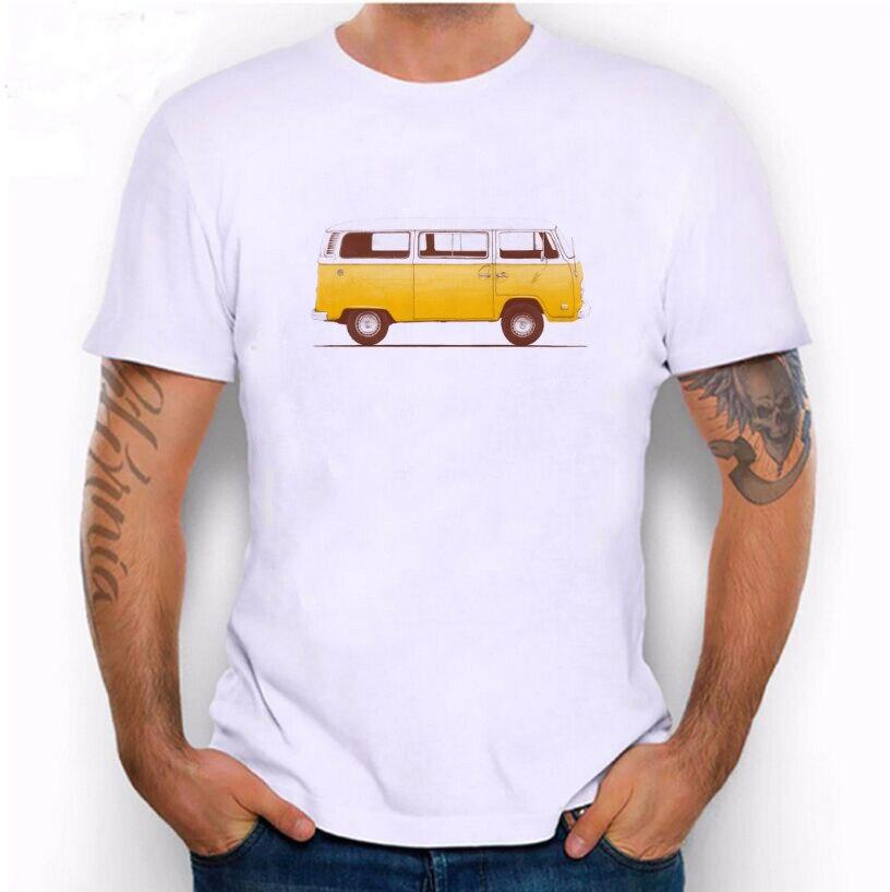 Hillbilly 2017 Fashion Summer White Men Yellow school bus   T  -  Shirt   Casual   T     Shirts   Men Tops Unisex Clothing Tees Tshirt   Shirt
