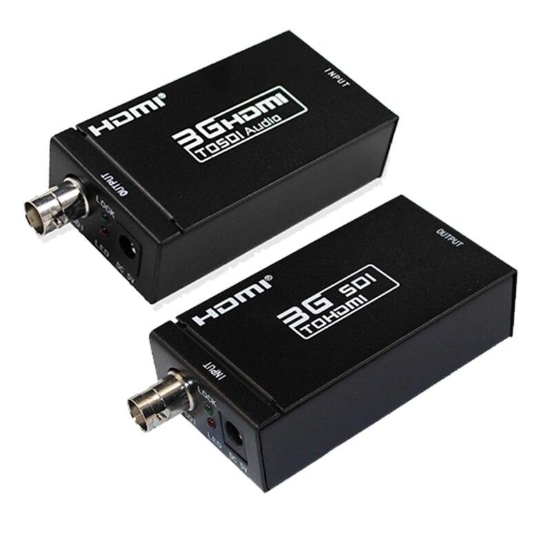 1080 P 3G HDMI para SDI Conversor BNC + SDI para HDMI Conversor SDI HDMI/BNC Extender Sobre único 100 m/328ft Cabos Coaxiais