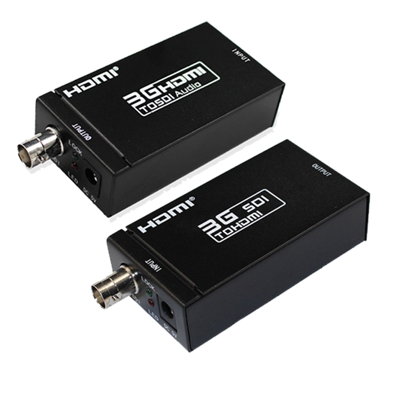 1080P 3G HDMI to SDI BNC Converter + SDI to HDMI Converter HDMI SDI / BNC Extender Over single 100m/328ft Coaxial Cables hsv379 sdi hdmi extender with lossless and no latency time over coaxial cable up to 200 meters support 1080p hdmi extender