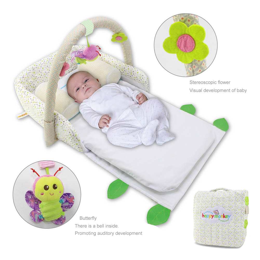 Portable Baby Crib Nursery Outdoor Travel Folding Bed Infant Toddler Cradle Storage Bag YH-17 2in1 baby travel crib can be mummy bag protable fold travel baby bed