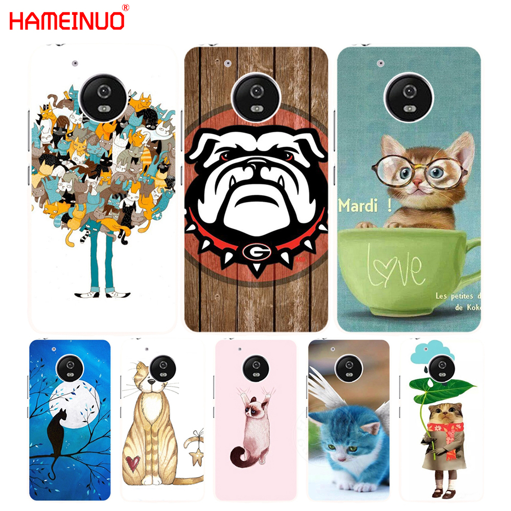 HAMEINUO Blue Moon Picture Cute Kittens case cover for Motorola Moto G6 G5 G5S G4 PLAY PLUS ZUK Z2 pro
