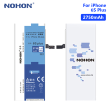 NOHON 3.8V 2750mAh Lithium Li Ion Battery Smart Phone Replacement For Apple IPhone 6S Plus 6SPlus With Install Tools