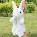 1/Pcs Sale 30cm Rabbit Hand Puppet 9 Colors Stuffed Plush Toys Educational Rabbits Models Hand Puppet Soft Gift For Children