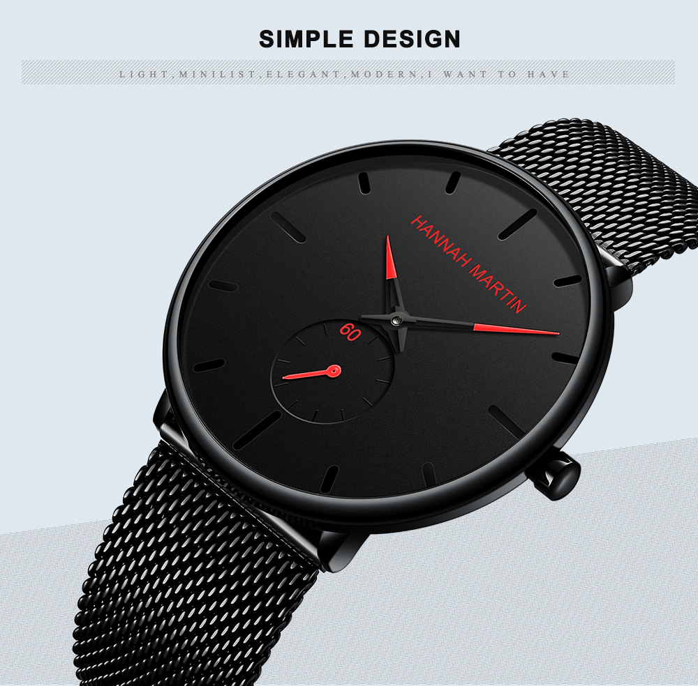 Dropship 2019 New Simple Design Waterproof Stainless Steel Mesh Small Dial Men Watches Top Brand luxury Quartz relogio masculino 3