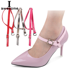 Fashion Design 1 Pair High Quality Charm Women Convenient PU Leather Detachable Shoes Belt Ankle Shoe Tie Lady Strap Lace Band charm women creative design convenient leather shoes belt ankle shoe tie lady strap lace band for holding loose high heels