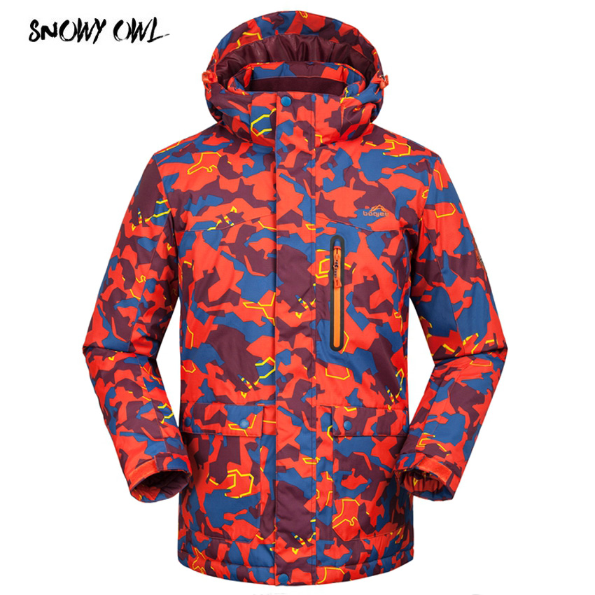 Camouflage Ski Jackets Men Winter Outdoor Ski Jacket Windproof Snow Wear Clothes Warm Snowboard Jacket h200 waterproof camping camouflage couples two piece ski wear male thickening fleece ski wear winter jacket men outdoor jacket