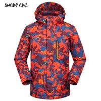 Camouflage Ski Jackets Men Winter Outdoor Ski Jacket Windproof Snow Wear Clothes Warm Snowboard Jacket h200