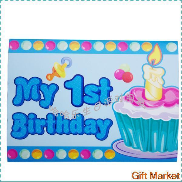 10 Pcs/lot Happy Birthday Decoration Cartoon Invitation