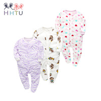HHTU 2018 Newborn Baby Rompers Infant Jumpsuits For Boys Girls Long Sleeved Clothes Fleece Cute Clothing
