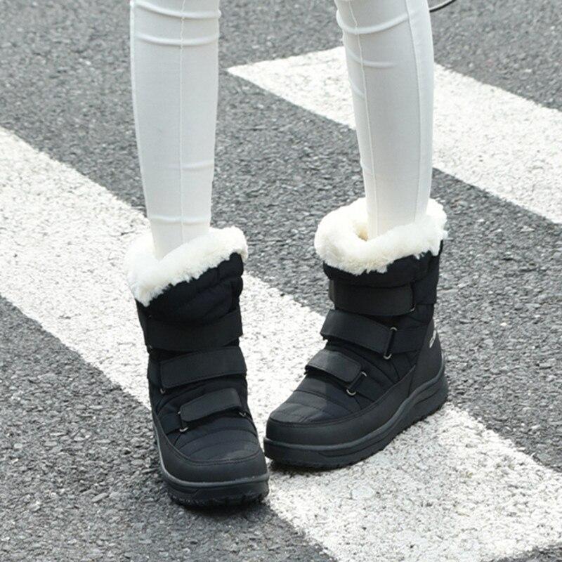 Femmes Non Chaud Peluche Femme De 2 Zuoxiangru Bottes Neige Velours Chaudes Cheville bouton Hiver Femelle Chaussures 1 Nouveau Trois En glissement dsChrtQ
