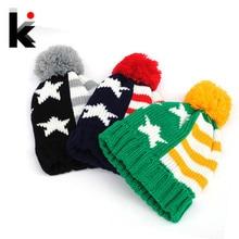 Бесплатный шопинг 2015 осень и зима мода Американский флаг шаблон мяч вязаная шапка шапки для женщин и шапки gorro мужчины