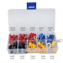 102 шт. 10 видов RV) набор обжимных разъемов для электрических колец с коробкой, изолированный медный провод