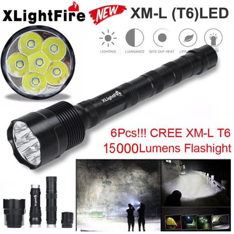Bicycle Front Head Tactical Torch 15000 Lumen 6 x Q5 LED Flashlight Light 5 Modes 18650 Cycling Hunting Bike Wholesale M25 3800 lumens cree xm l t6 5 modes led tactical flashlight torch waterproof lamp torch hunting flash light lantern for camping z93