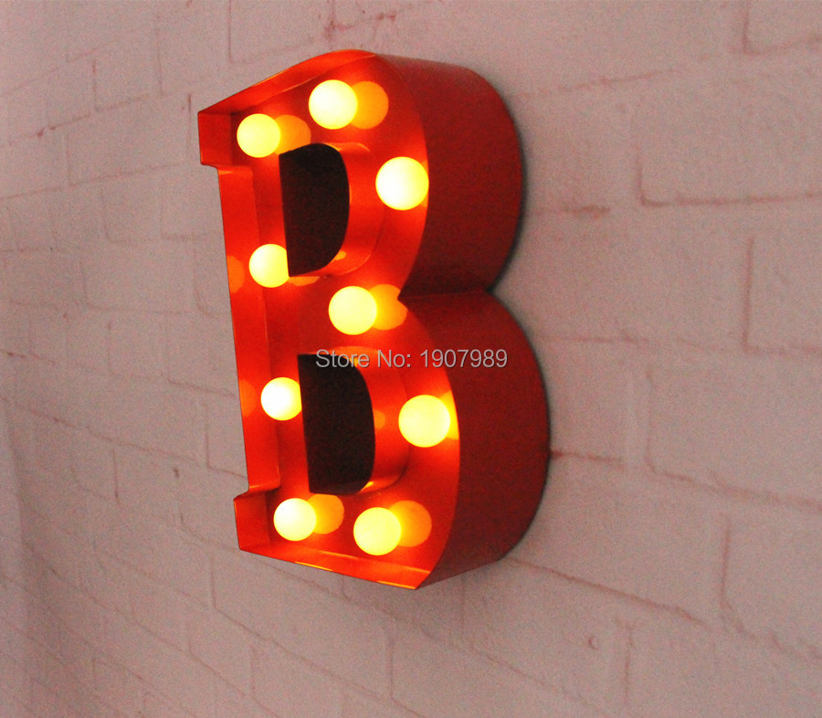 9 red metal letters light led alphabet marquee sign vintage metal letter signs light indoor